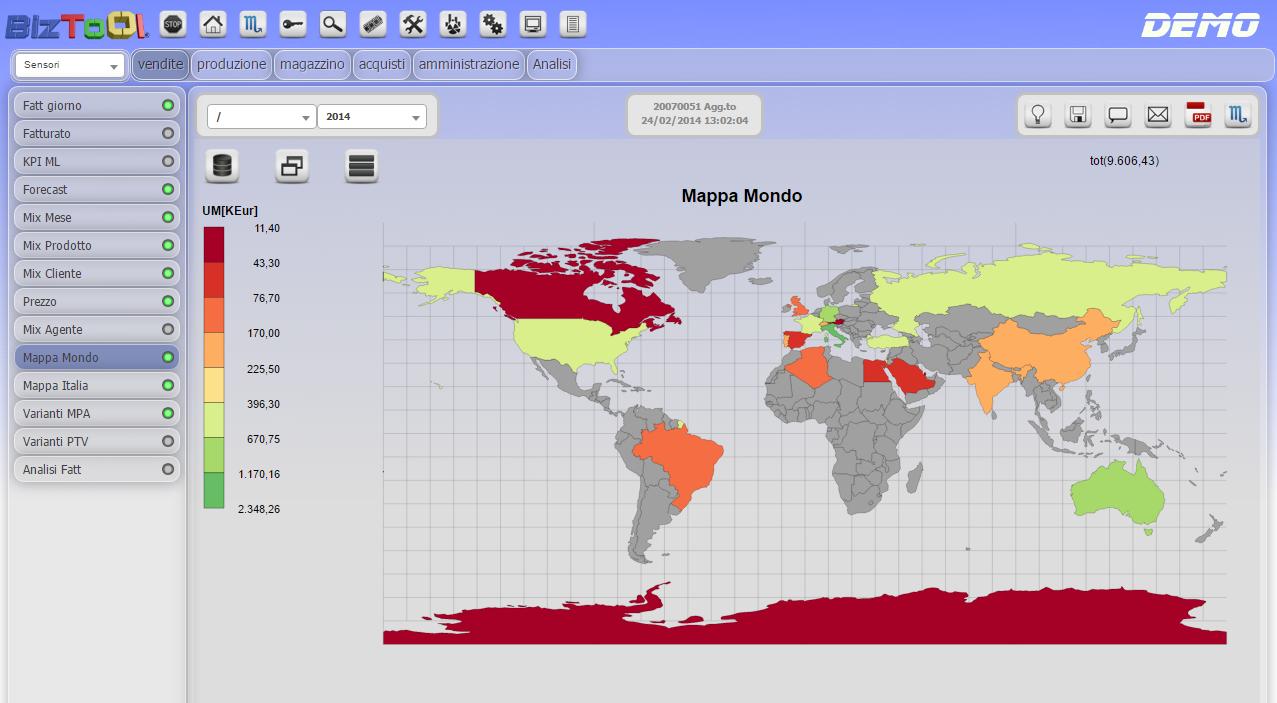 Sensore Mappa
